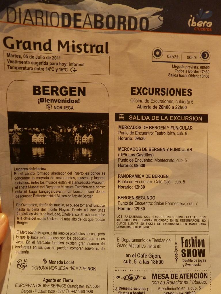 Diario de a Bordo Bergen