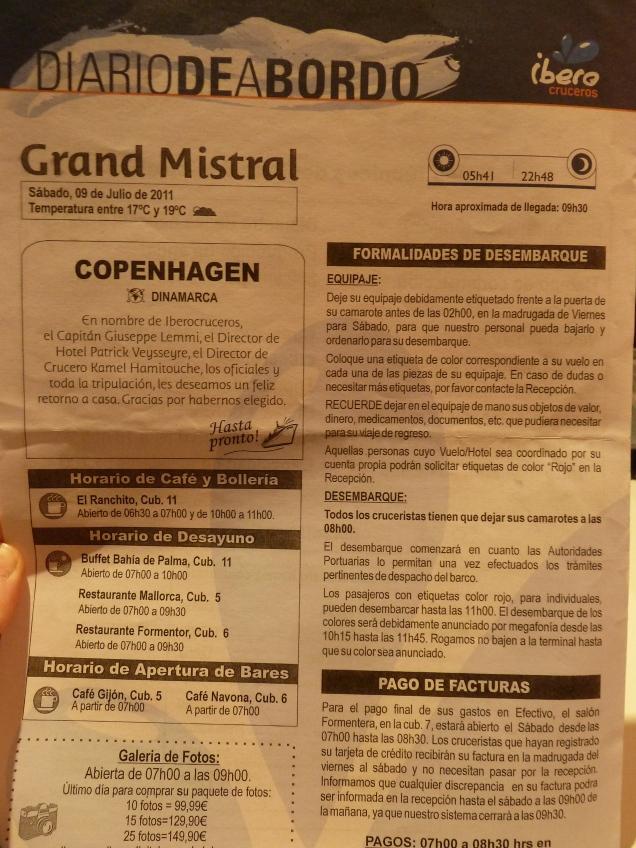 Diario de a bordo Copenhague