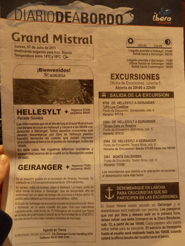 Diario de a bordo Geiranger