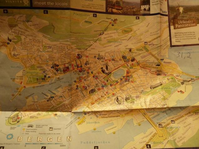 Mapa Bergen