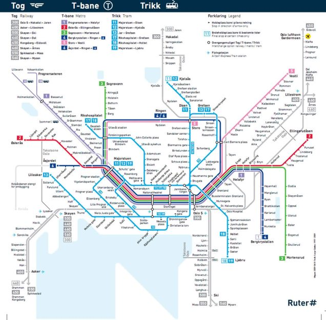 transporte público Oslo
