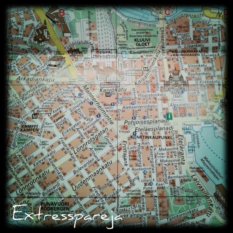Helsinki mapa centro