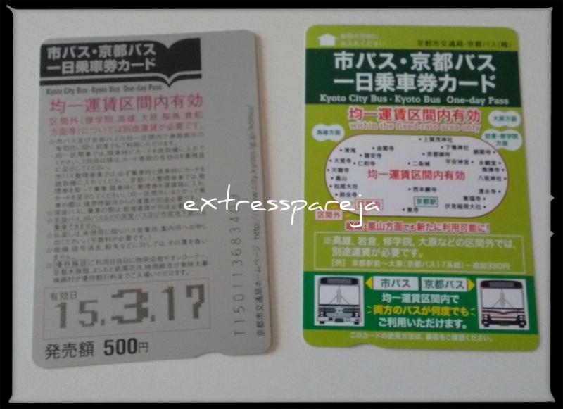 Ticket bus Kioto