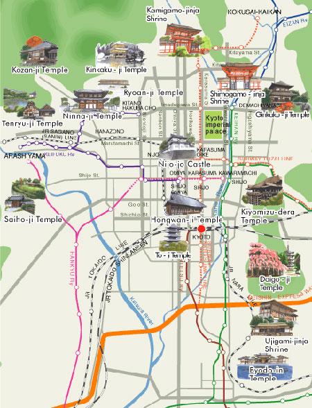 Mapa Kioto
